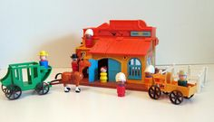 Western Town | 22 Awesome Fisher-Price Little People Playsets You Wish You Still had.  We had a few!