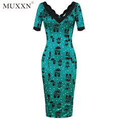 MUXXN Women's 50s Jade Cat V-neck Cocktail or Wedding Swing Dress Click Link : https://www.amazon.com/dp/B01FX0DEHW Promotion Price : $9.99~ $29.99 You can get as much as you want,there will be more surprises Like our page: https://www.facebook.com/Fashion-Shop-302516476805697/ Share this product with your SNS (Facebook, youtube,pinterest,instagram etc)