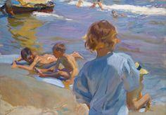 Joaquín Sorolla y Bastida - Children on the Beach, Valencia - 1916