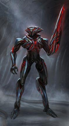 Monster Concept Art, Alien Concept Art, Creature Concept Art, Armor Concept, Weapon Concept Art, Arte Robot, Robot Art, Alien Character, Character Art
