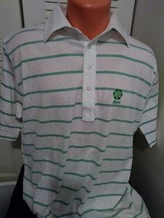 Vintage Pickering SZ: XL  Lilse Cotton Polo Shirt Golf Maui Hawaii Logo Stripes #Pickering #PoloRugby