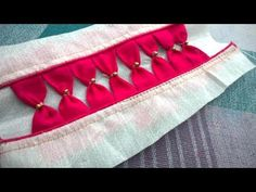 model blouse tips and techniques | thread piping, lace attaching, chocolate design stitching - YouTube
