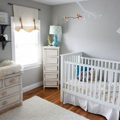 """Beautiful nursery! :) """"Mist"""" paint color by Quiet Home Paints. Would love this for my own bedroom! saw it on fab.com"""