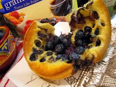 Blueberry Popovers – sugar free