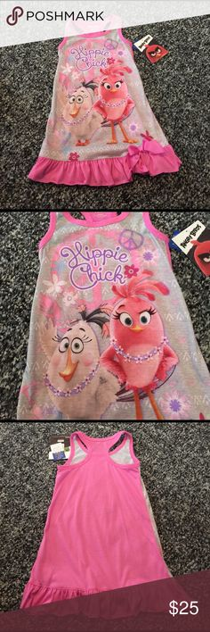 Angry birds night gown NWT Little girls night gown! Pajamas Nightgowns