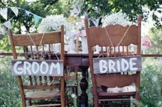 sweetheart table chair signs
