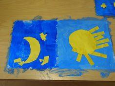 Light In The Dark, Kindergarten, Crafts For Kids, 1, Activities, Children, Winter, Painting, Science