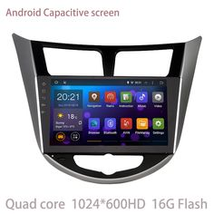 android 5.1.1 Car radio GPS for Hyundai Verna Solaris I25 with quad core Capacitive screen 1.6G CPU 1G RAM Radio Tape Recorder #Affiliate