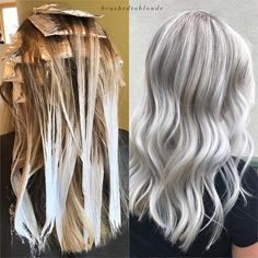 """961 Likes, 15 Comments - Pennsylvania Colorist (@brushedtoblonde) on Instagram: """"Processing & after  babylights + balayage  . . The lighting in this processing photo is…"""""""
