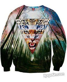 Wild Cats Sweatshirt - RageOn! - The World's Largest All-Over-Print Online Store