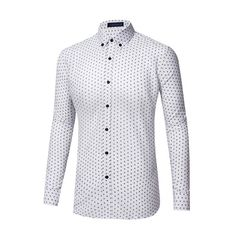 SUCFORST Men's Premium Casual Printed Slim Fit Inner Contrast Dress Shirt  at Amazon Men's Clothing store
