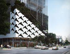 Capital Bank detail, Calle 50, Panama - Bettis Tarazi #architecture #bank #comercial #panama #design #luxury #style #spaces #architecturedesign #urban #corporate