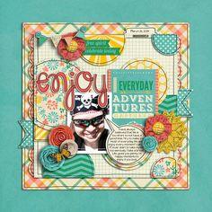 Sweet Shoppe Designs :: 1 Page Layout Templates :: Doodle it up Half pack 1 by Lauren Grier & Cindy Schneider