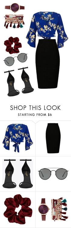 """Untitled #156"" by vega-skouboe-lindberg on Polyvore featuring River Island, Yves Saint Laurent, Ray-Ban and Jessica Carlyle"