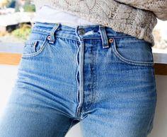 Vintage LEVI'S Boyfriend Jeans In Your Size Denim Levi Highwaist Vintage Distressed Jeans Levis Jeans, Denim On Denim, Shorts Jeans, All Jeans, Denim Style, Sexy Jeans, Pants, Parisienne Chic, Carrie Bradshaw