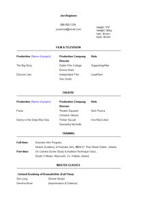 Acting Resume Beginner New Pinmiss Sanchez On Johnathan  Pinterest