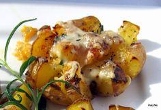 Nejedlé recepty: Brambory pečené s rozmarýnem a sýrem Kefir, Shrimp, Potatoes, Meat, Vegetables, Food, Potato, Essen, Vegetable Recipes