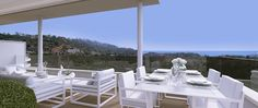 Spectacular views from the terraces at Botanic in Benahavis. A new exclusive development by Taylor Wimpey Spain.