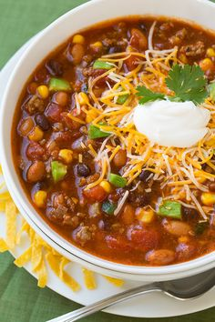Taco Soup - this soup is delicious and it's so hearty and filling!