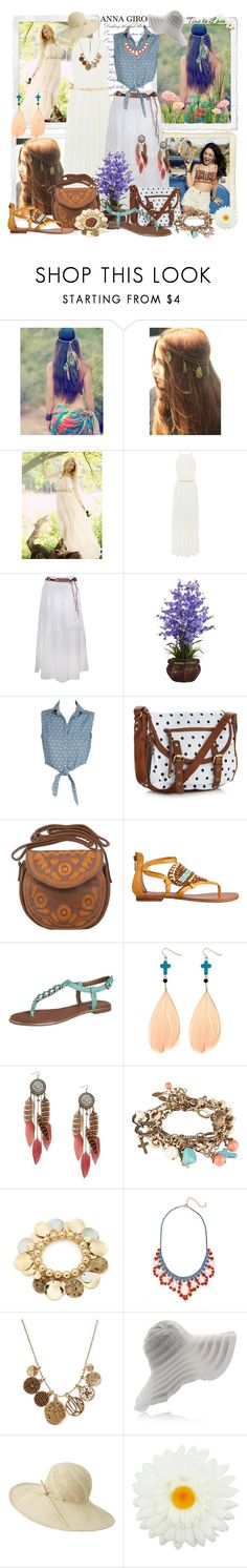 comfy summer look by annagiro on Polyvore featuring moda, Oasis, Rare London, Nine West, ALDO, MINKPINK, Call it SPRING, Style & Co., MOOD and BaubleBar