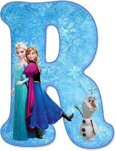 Alfabeto de Ana, Elsa y Olaf de Frozen. Frozen Tea Party, Frozen Theme, Frozen Princess, Princess Theme, Olaf Frozen, Disney Frozen Birthday, 4th Birthday Parties, Elsa, Frozen Printable