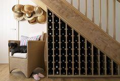Portfolio > Cornwall   Amory Brown  Under the stair wine rack. Brilliant!
