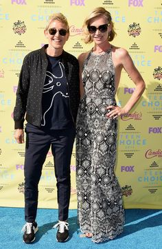 Pin for Later: The Sun — and Stars — Came Out For the Teen Choice Awards! Ellen DeGeneres and Portia de Rossi