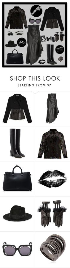 """Fashion one"" by zabead ❤ liked on Polyvore featuring Monse, Sergio Rossi, MASSCOB, Burberry, Yves Saint Laurent, Gucci, Yohji Yamamoto and Federica Tosi"