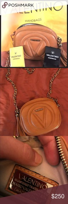 Valentino handbag made in Italy Small Valentino handbag. Dark tan Valentino Bags Satchels