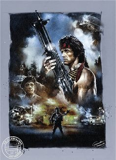 "Sylvester Stallone as John Rambo in First Blood (1982)  ""They drew first blood, not me."""