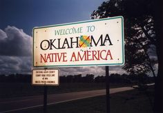 oklahoma state welcome sign - Google Search