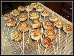 a little bit of everything: Recipe: Pizza Rolls on a Stick