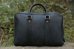 Leather Briefcase/ Messenger Bag/ Laptop Bag/ Men's Handbag