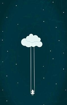 Imagen de wallpaper, clouds, and stars