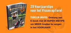 TIJDELIJK GRATIS: Ontvang een E-book met 29 SUPER VISTIPS om MEER forellen te vangen in het VOORJAAR!