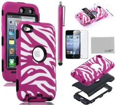 Pandamimi ULAK Zebra Design Combo Black Hard PC and Hot Pink Soft Silicon Case Cover For iPod Touch4 4th + Hot Pink Stylus by ULAK, http://www.amazon.com/dp/B00BUIGH58/ref=cm_sw_r_pi_dp_STRasb1V9YSB8