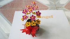 Quilling tutorial Advance 3D- How to make Flower Vase Quilling