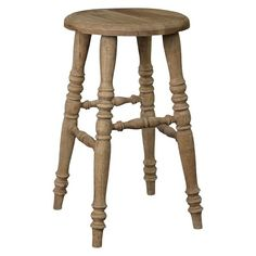 "Promenade Antique 24"" Counter Stool Wood/Brown - Jeffan : Target"