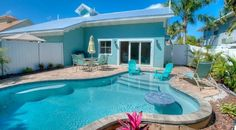 Vacation rental Mermaids Crossing# pool on Holmes Beach, Florida#. Relax, enjoy, chill and keep cool.