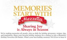 Don't forget to get your @MezzettaFoods coupon right in time for the Holidays! #MezzettaMemories #sp