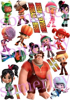 Wreck-it Ralph Sugar Rush Speedway sticker pack. $6.00, via Etsy.