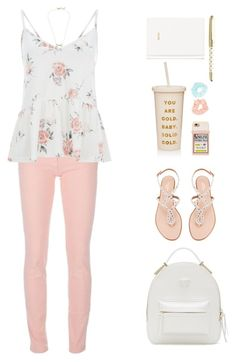 """Back To School"" by styleskater7 ❤ liked on Polyvore featuring Balenciaga, Versace, Aquazzura, ban.do, Forever 21, H&M, Kate Spade, BackToSchool, outfit and jeans"