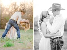 Celebrating the engagement of the reigning World Champion All-Around Cowboy Tuf Cooper, and his beautiful fiancé Tiffany McGhan, owner of Fashion Posse, in Weatherford, Texas. These images are featured on RIDE TV Go's original series Tuf n' Tif Western Engagement Photos, Engagement Photo Outfits, Engagement Couple, Engagement Shoots, Winter Engagement, Engagement Ideas, Beach Engagement, Country Couple Pictures, Cute Country Couples