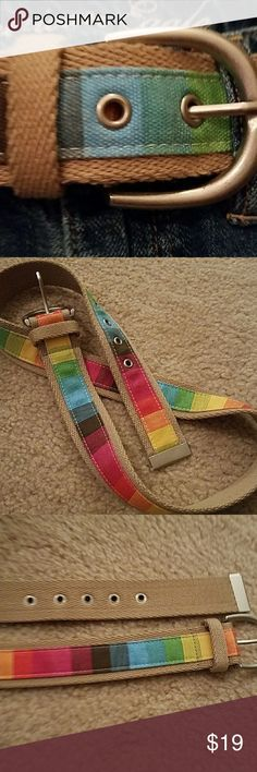 Reversible belt, great colors Fits small to med, new Accessories Belts