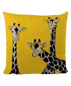 Another great find on #zulily! Yellow Giraffe Pillow Case #zulilyfinds