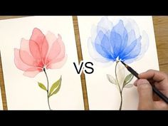 Welcome to Snowberry Design Co, the place to be to learn how to paint loose watercolor flowers! I help frustrated watercolor artists become confident and mas. Watercolor Flowers Tutorial, Watercolor Video, Watercolor Painting Techniques, Watercolour Tutorials, Watercolor Artists, Flower Tutorial, Watercolor And Ink, Painting & Drawing, Watercolor Paintings