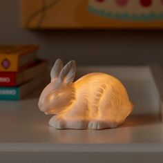 Woodland Nightlight (Bunny) | The Land of Nod All four are charming. If only it was not battery...