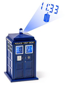 ThinkGeek :: Doctor Who TARDIS Projection Alarm Clock