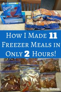 I love freezer meals! In this session, I made 11 meals in 2 hours with no stress and little hassle. Find out how and get the recipes!
