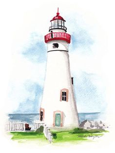HAND-PAINTED LIGHTHOUSE BOTTLE INVITATION DESIGN